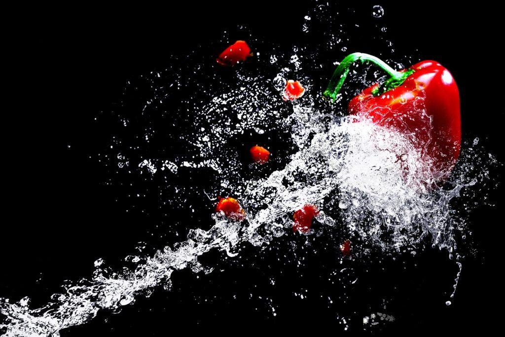 Zum Beispiel Paprika ist ein exzellenter Vitamin C lieferant